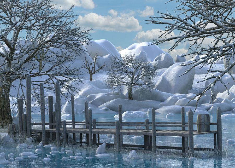 Fantasy Winter Beach royalty-free 3d model - Preview no. 6