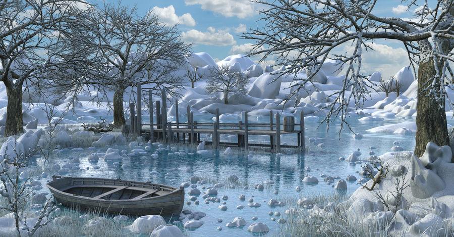Fantasy Winter Beach royalty-free 3d model - Preview no. 1