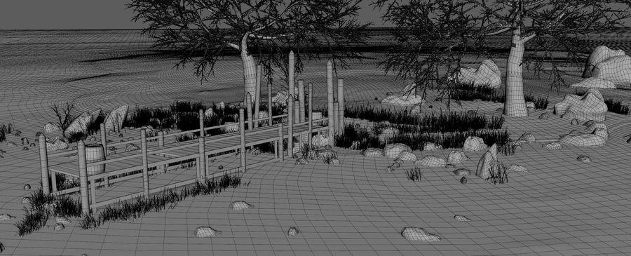Fantasy Winter Beach royalty-free 3d model - Preview no. 12