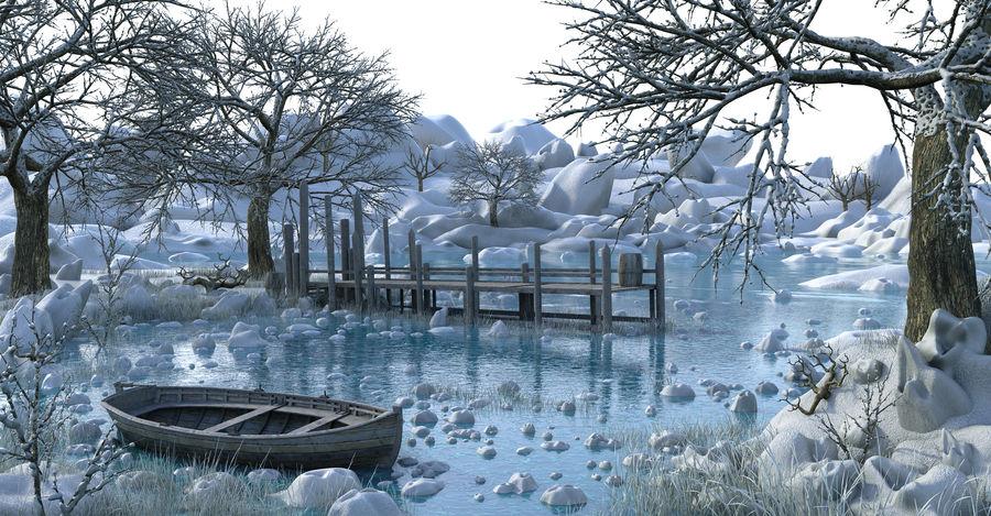 Fantasy Winter Beach royalty-free 3d model - Preview no. 2