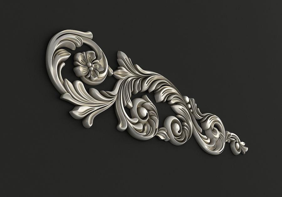 Rzeźbiony wystrój royalty-free 3d model - Preview no. 2
