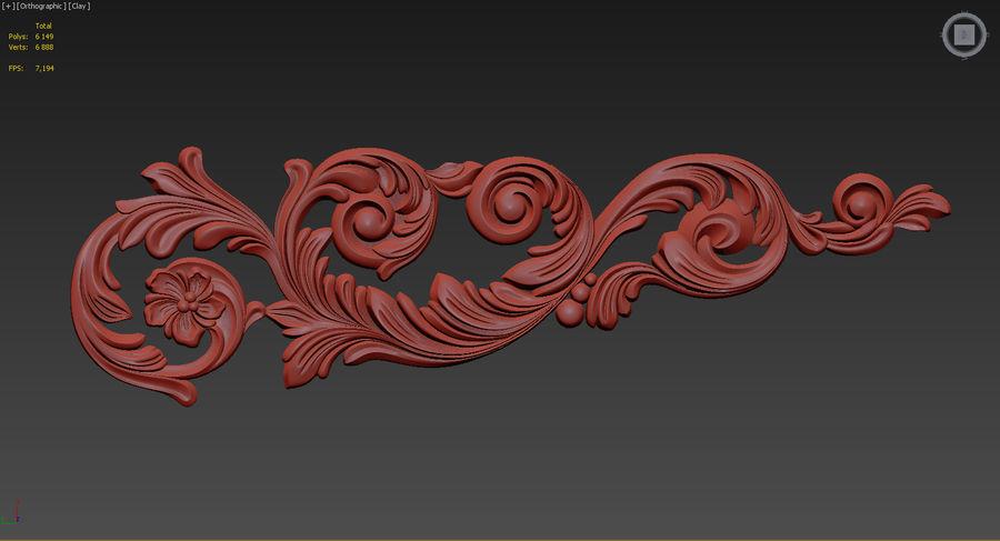 Rzeźbiony wystrój royalty-free 3d model - Preview no. 3