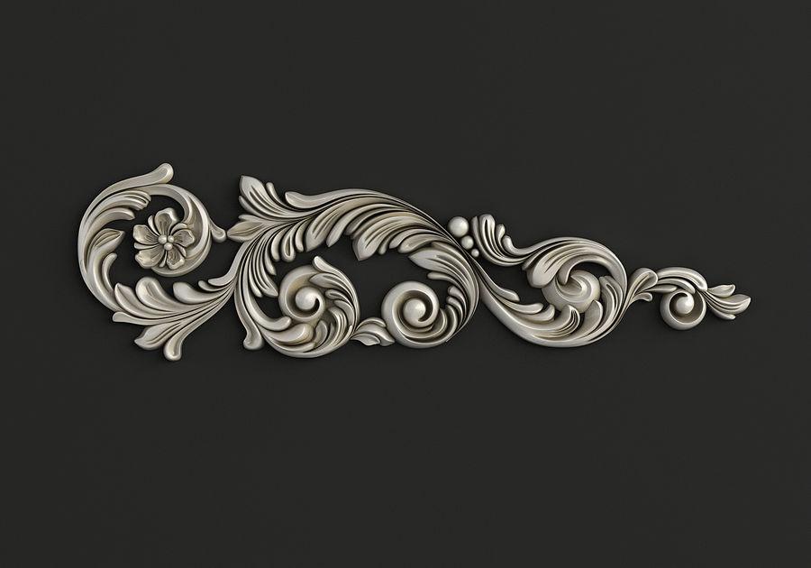 Rzeźbiony wystrój royalty-free 3d model - Preview no. 1