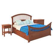 Кровать с системами хранения рельсов 3d model