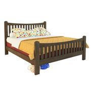 나무 침대 3d model