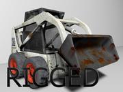 Vit grävmaskin R 3d model