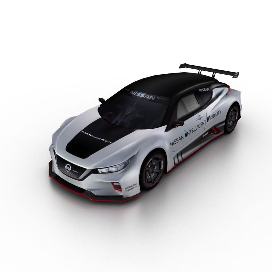 Nissan Leaf Nismo RC 2018 royalty-free 3d model - Preview no. 1