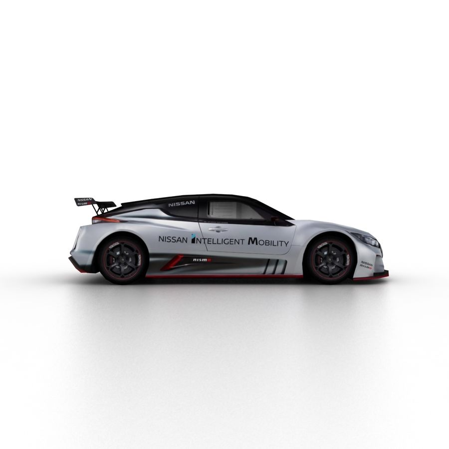 Nissan Leaf Nismo RC 2018 royalty-free 3d model - Preview no. 3