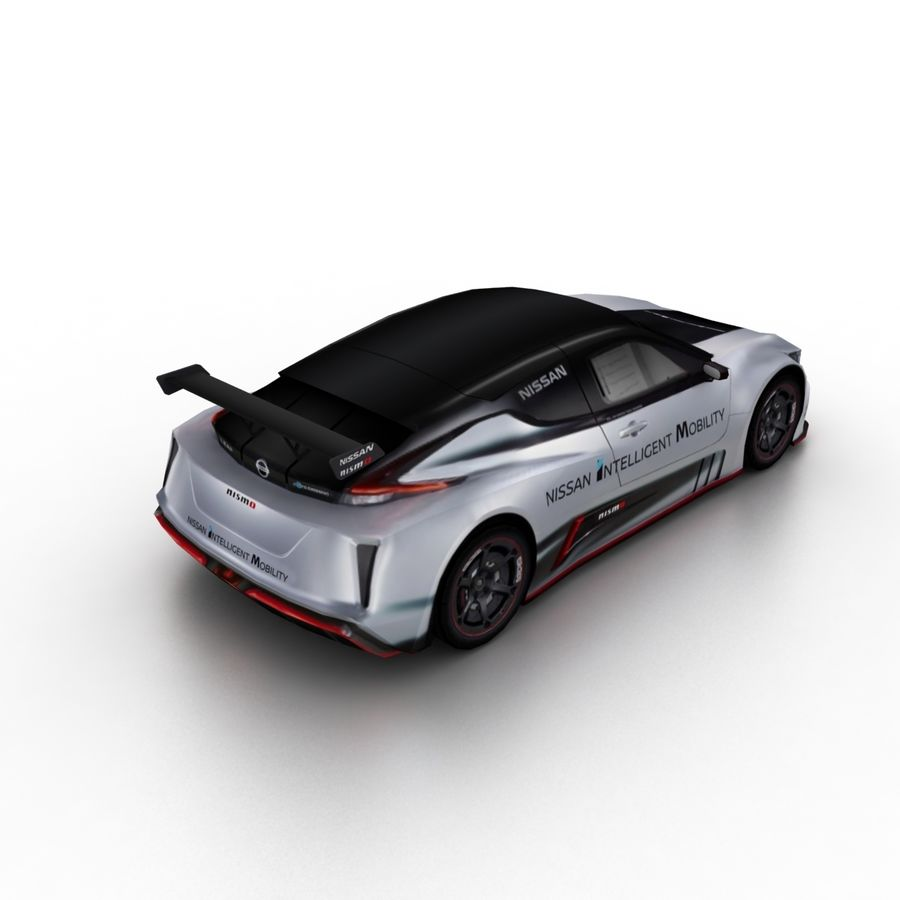 Nissan Leaf Nismo RC 2018 royalty-free 3d model - Preview no. 2