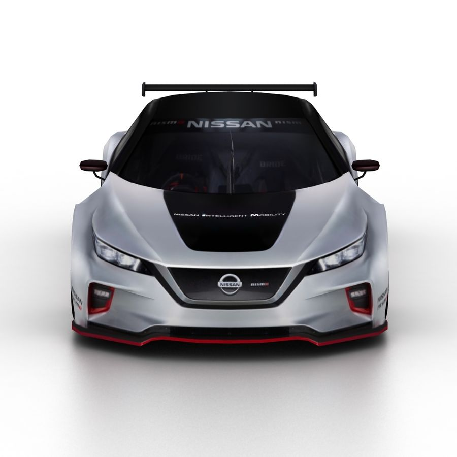 Nissan Leaf Nismo RC 2018 royalty-free 3d model - Preview no. 4