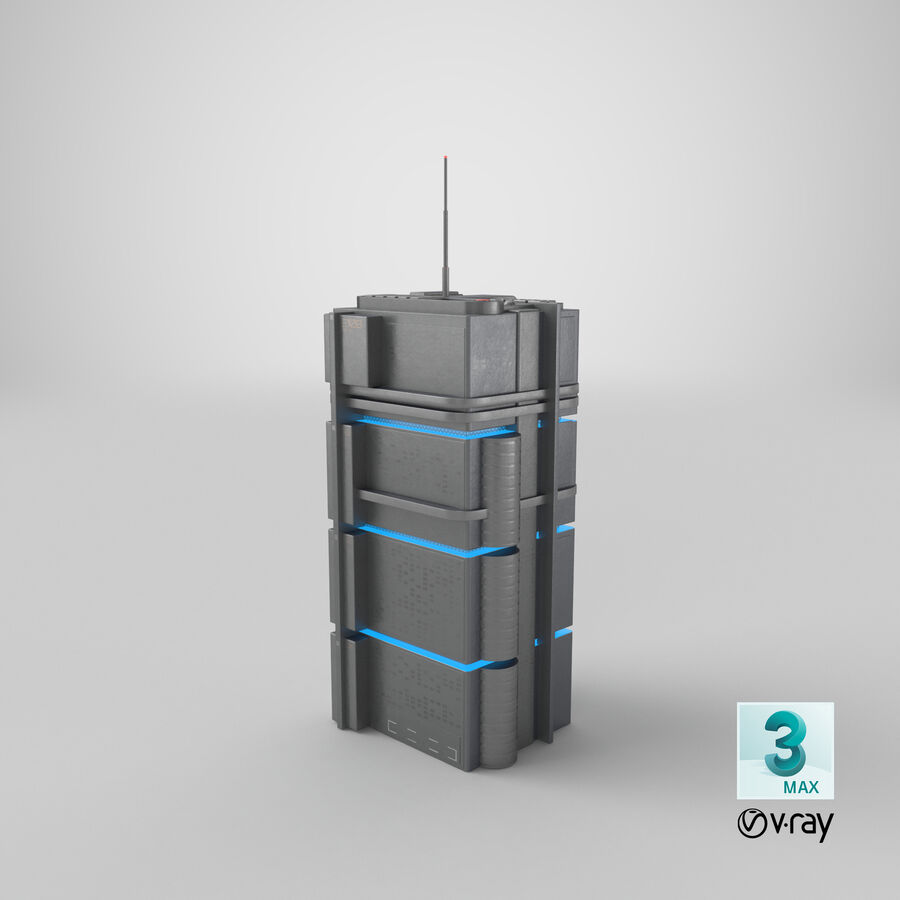 Sci fi Building royalty-free 3d model - Preview no. 25