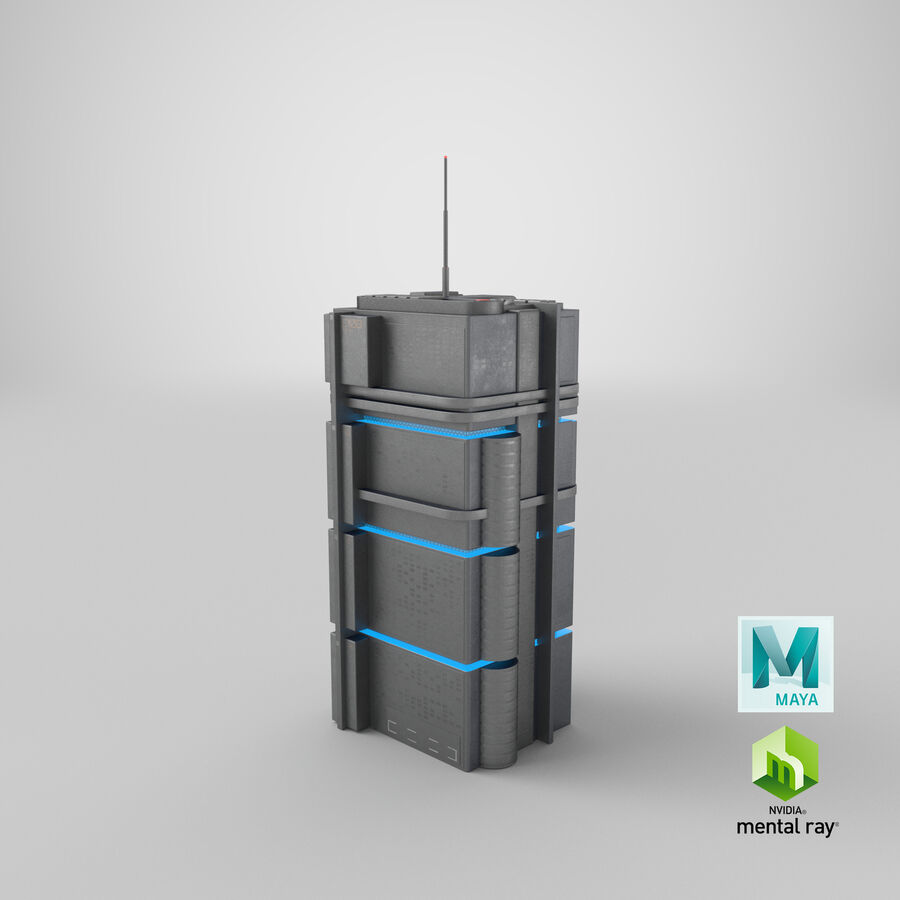 Sci fi Building royalty-free 3d model - Preview no. 24