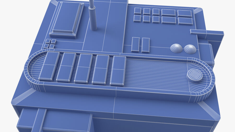 Sci fi Building royalty-free 3d model - Preview no. 15