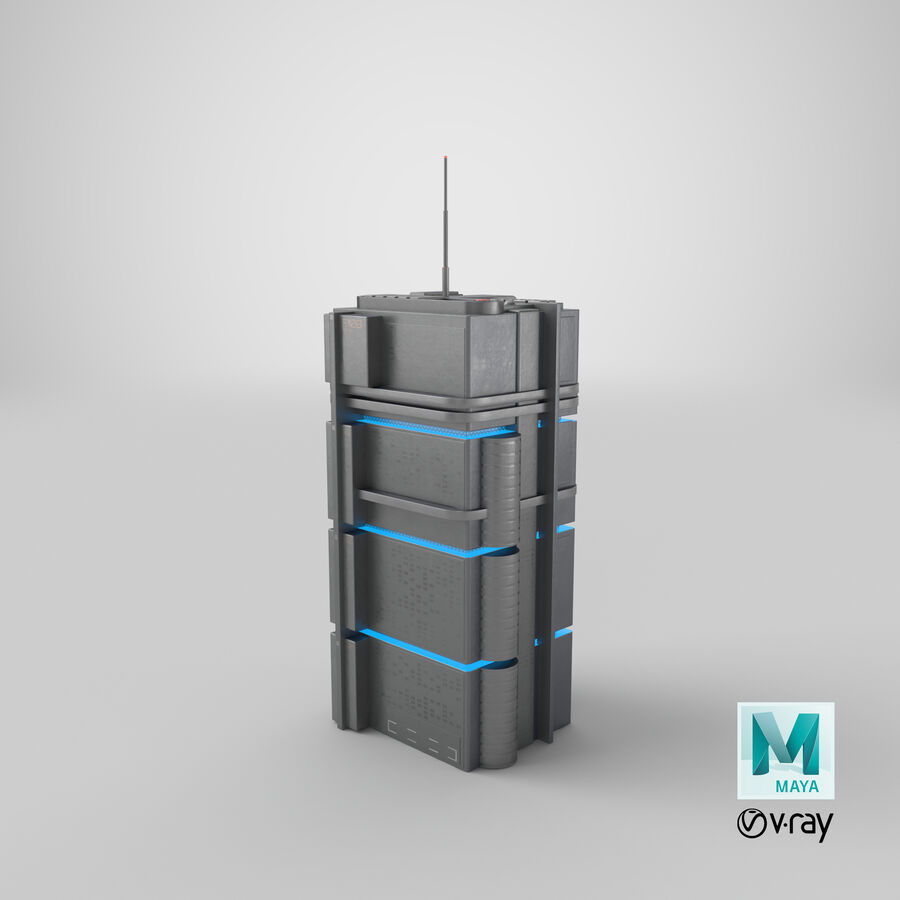 Sci fi Building royalty-free 3d model - Preview no. 23