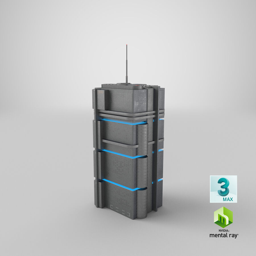 Sci fi Building royalty-free 3d model - Preview no. 26