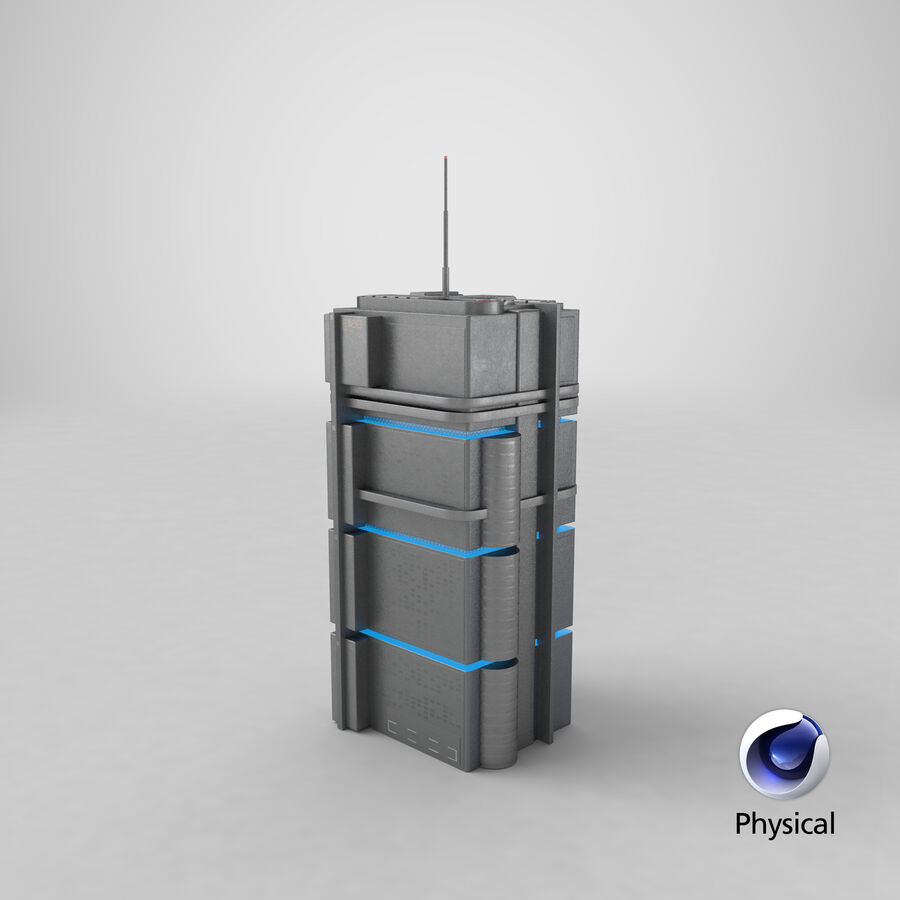 Sci fi Building royalty-free 3d model - Preview no. 27