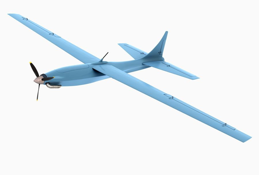 Pegasus UAV royalty-free 3d model - Preview no. 1