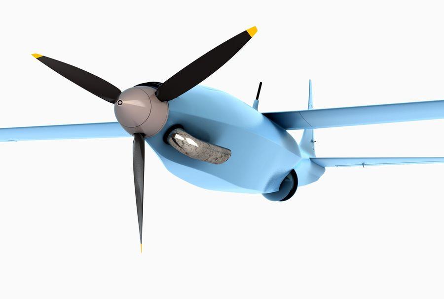 Pegasus UAV royalty-free 3d model - Preview no. 3