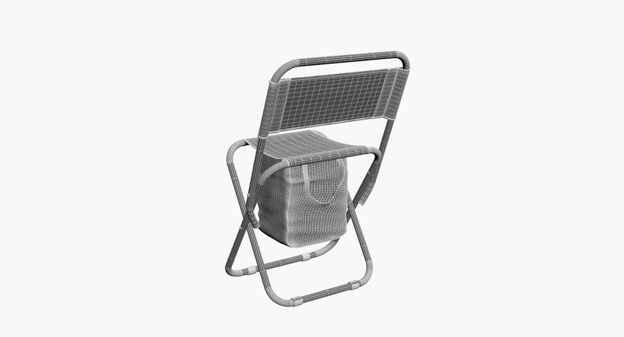 Folding Camp Chair royalty-free 3d model - Preview no. 14