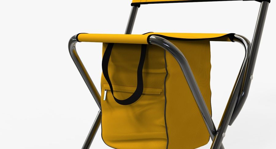 Folding Camp Chair royalty-free 3d model - Preview no. 7