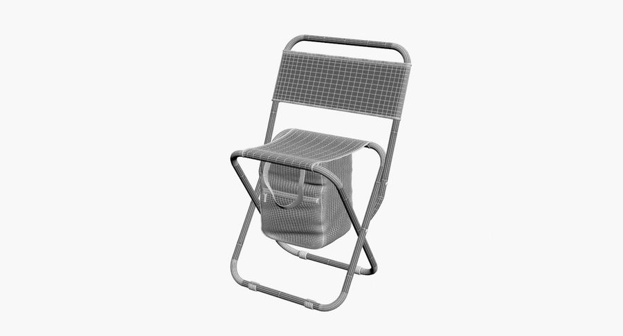 Folding Camp Chair royalty-free 3d model - Preview no. 12
