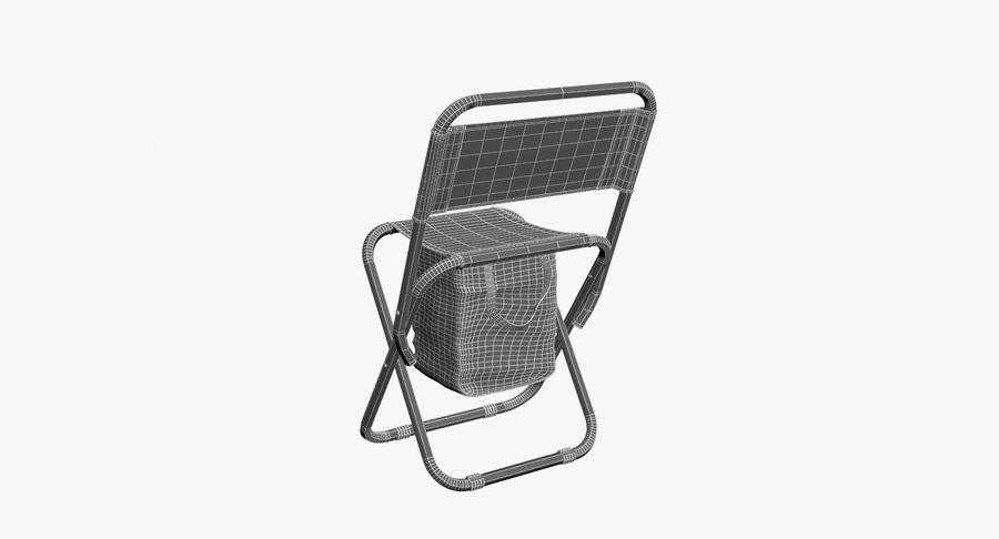 Folding Camp Chair royalty-free 3d model - Preview no. 13