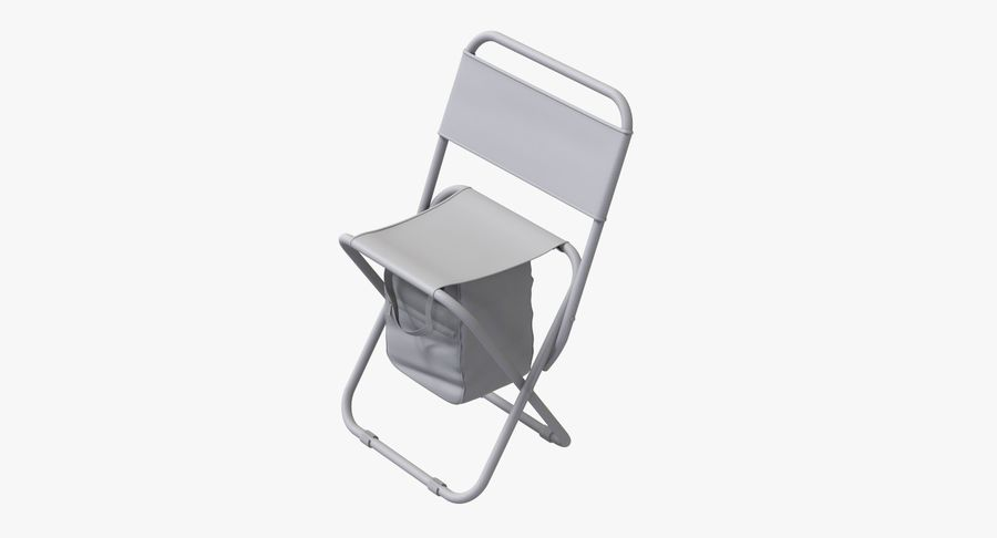 Folding Camp Chair royalty-free 3d model - Preview no. 9