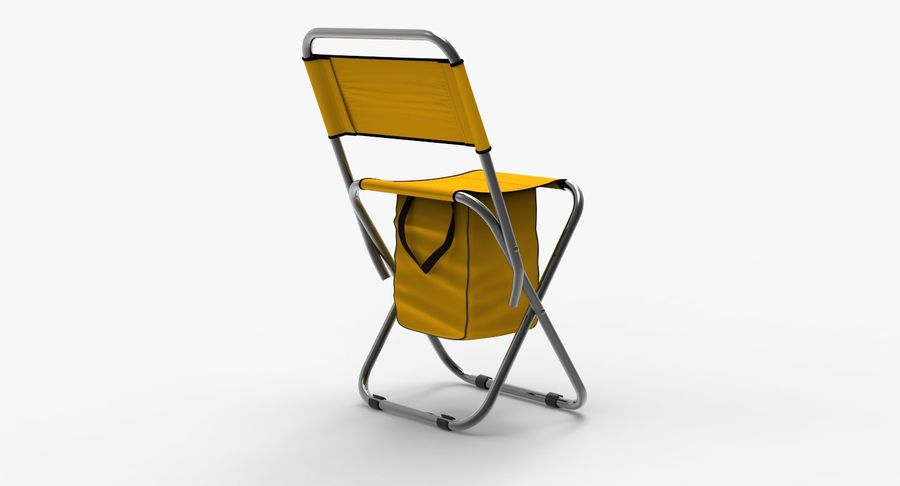 Folding Camp Chair royalty-free 3d model - Preview no. 4