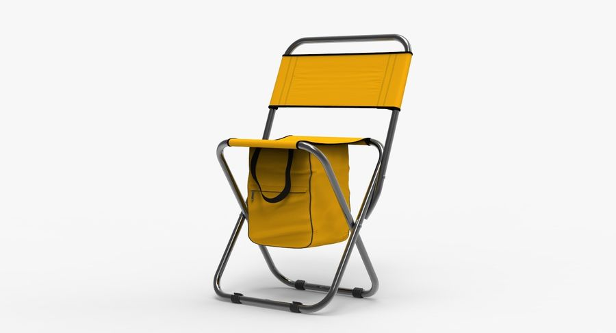 Folding Camp Chair royalty-free 3d model - Preview no. 5