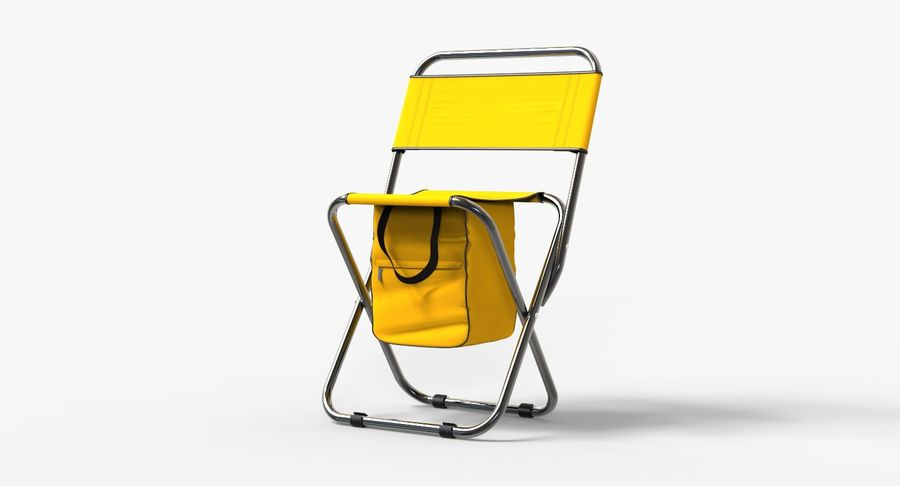 Folding Camp Chair royalty-free 3d model - Preview no. 2