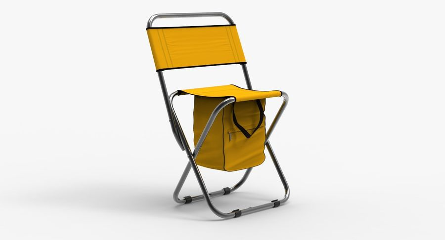 Folding Camp Chair royalty-free 3d model - Preview no. 3