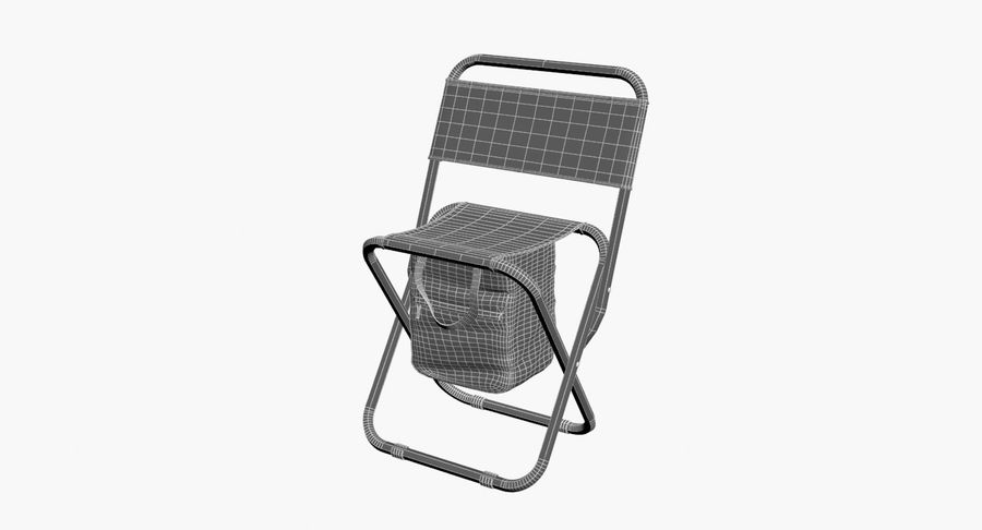Folding Camp Chair royalty-free 3d model - Preview no. 11