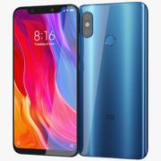 Xiaomi Mi 8 Blue 3d model