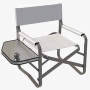 Sedia da campeggio con tavolo 3d model