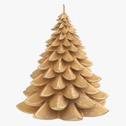 나무 모양의 촛불 04 3d model