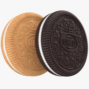 Chocolate And Golden Oreo 3d model