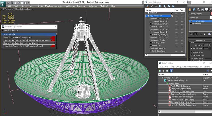Antena parabólica Modelo 3D royalty-free modelo 3d - Preview no. 17
