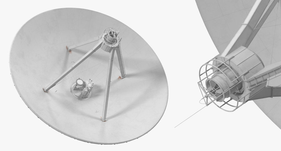 Antena parabólica Modelo 3D royalty-free modelo 3d - Preview no. 6