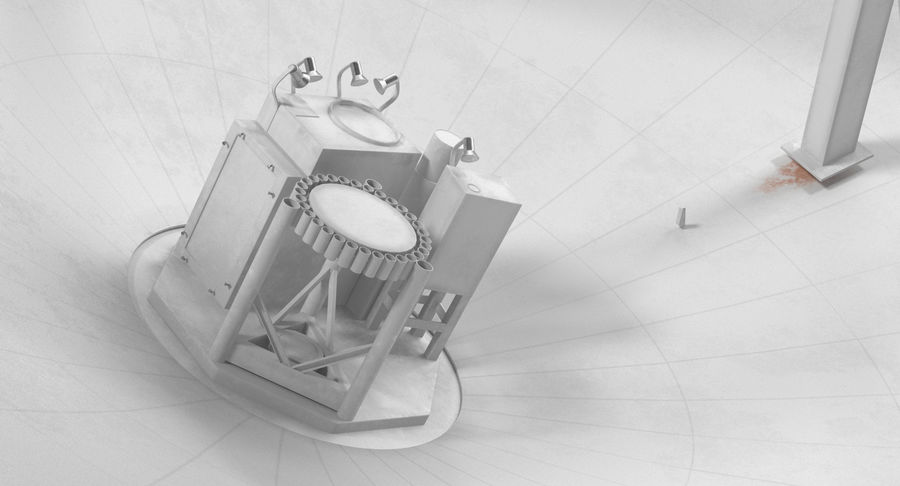 Antena parabólica Modelo 3D royalty-free modelo 3d - Preview no. 8