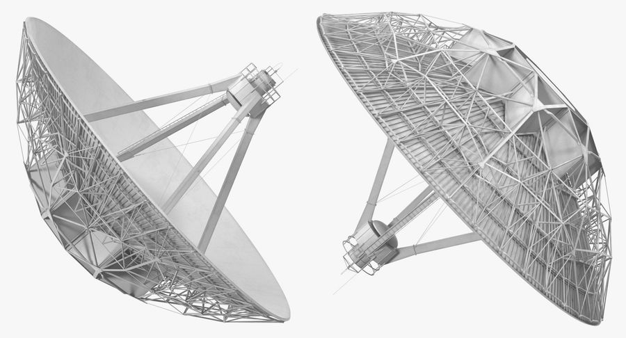 Antena parabólica Modelo 3D royalty-free modelo 3d - Preview no. 5