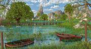 Fantasy Swamp Lake 3d model