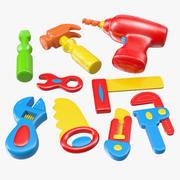 Plastic Toy Tools 3d model