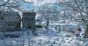 Fantasie Winteromgeving 3d model
