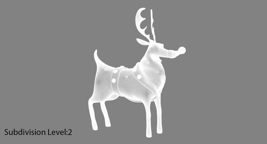 漫画のトナカイ royalty-free 3d model - Preview no. 17