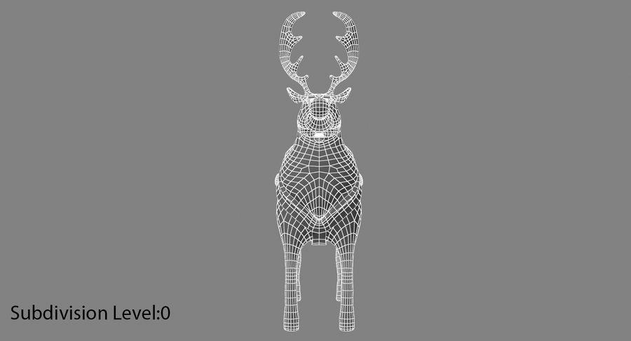 漫画のトナカイ royalty-free 3d model - Preview no. 10