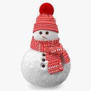 Маленькая Снегурочка 3d model