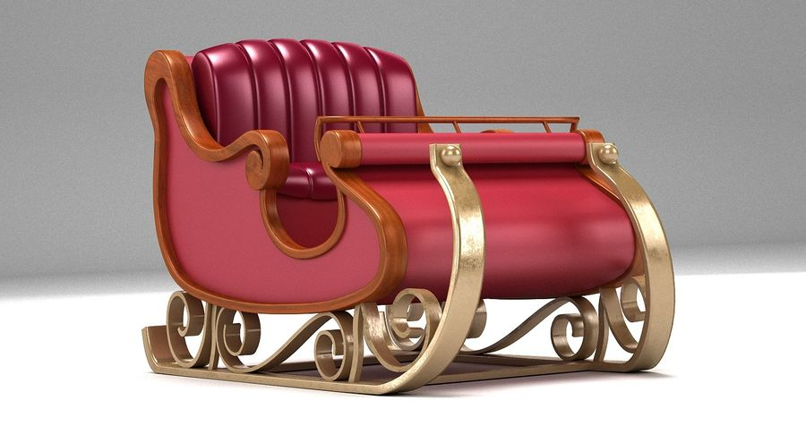 Slitta di Babbo Natale 2 royalty-free 3d model - Preview no. 6