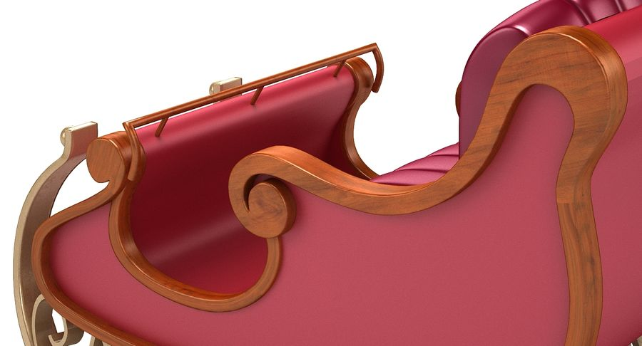 サンタクロースのそり2 royalty-free 3d model - Preview no. 8