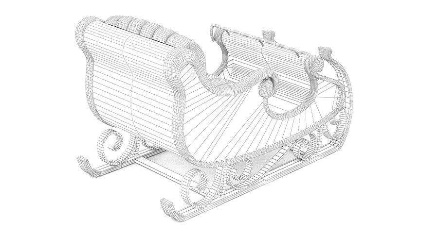 サンタクロースのそり2 royalty-free 3d model - Preview no. 10