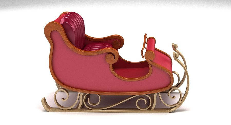 Slitta di Babbo Natale 2 royalty-free 3d model - Preview no. 5